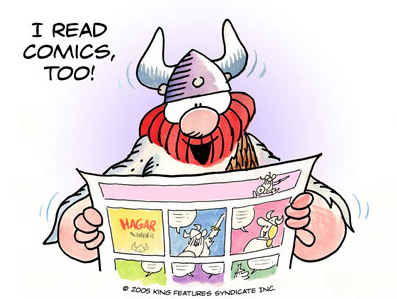 H�gar reads comics too